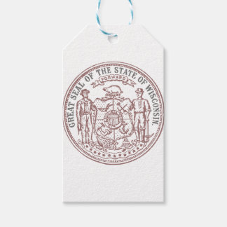 Faded Wisconsin Seal Gift Tags