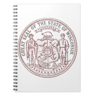 Faded Wisconsin Seal Notebook