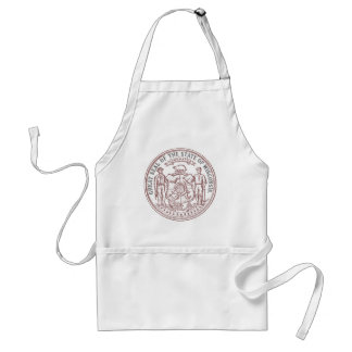 Faded Wisconsin Seal Standard Apron