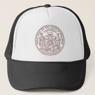 Faded Wisconsin Seal Trucker Hat