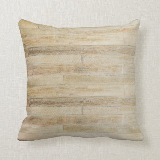 Faded Worn Wood Flooring Texture Throw Pillow