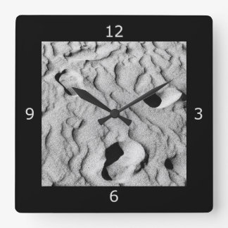 Fading Footprints and Memories Square Wall Clock