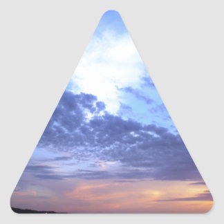 Fading into Dusk Triangle Sticker