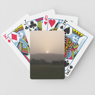 Fading Sun Bicycle Playing Cards