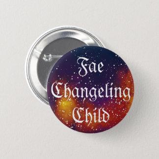 Fae Changeling Child Customizable Galaxy Identity 2 Inch Round Button