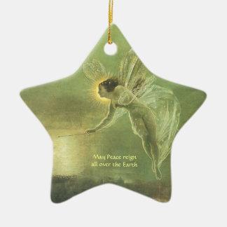 Fae - Fairy Angle Star shape Christmas Ornemant Ceramic Star Ornament