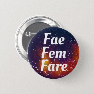 Fae/Fem/Fare Customizable Galaxy Pronoun 2 Inch Round Button