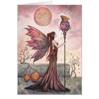 Faerie and Dragon Fantasy Art Card