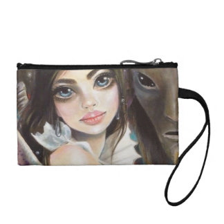 Faerie and her Fauns Art Change Purse