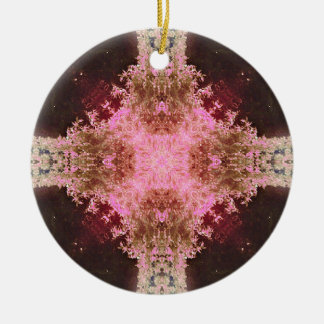 Faerie Breath Round Ceramic Ornament