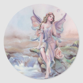 FAERIE BUBBLES by SHARON SHARPE Classic Round Sticker