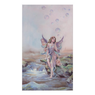 FAERIE BUBBLES by SHARON SHARPE Poster