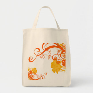 FAERIE FLORAL GROCERY TOTE BAG