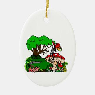 Faerie Forest Ceramic Oval Ornament
