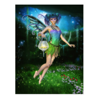 Faerie Glimmers in the Night Postcard