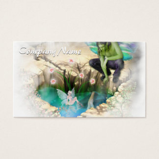 Faerie in Elven Pond Vignette Business Card