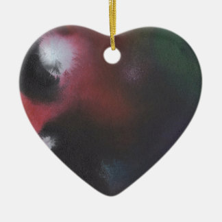Faerie Madness Abstract Ceramic Heart Ornament