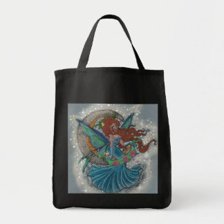 Faerie Magic Moon Grocery Tote Grocery Tote Bag