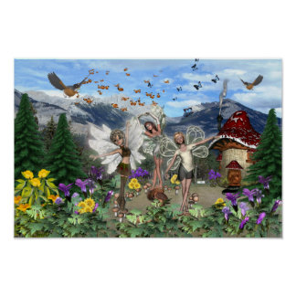 Faerie Meadow Poster