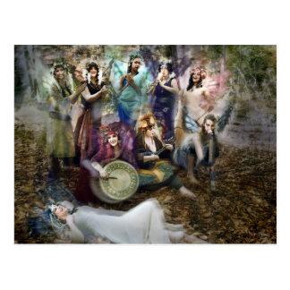 Faerie Musicians Postcard by Cheryl Fair