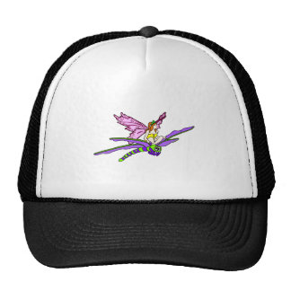 Faerie Riding a Dragonfly Hats