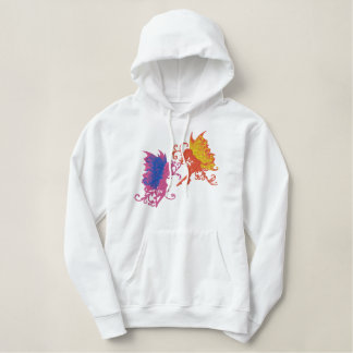 Faerie Sisters Embroidered Hoodie