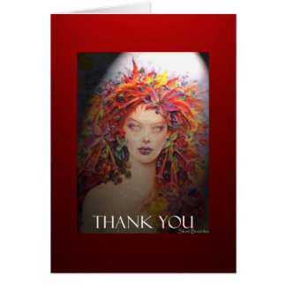 Faerie Thank You Greeting Card