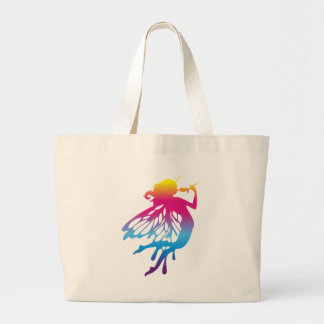 Faerie with beautiful colors tote bags
