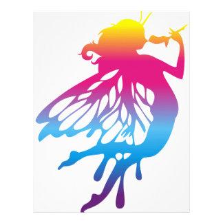 Faerie with beautiful colors customized letterhead