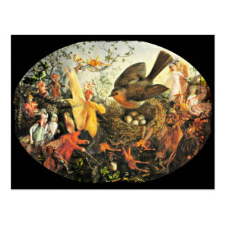 Faeries and Robin's Nest Postcard