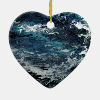 Faeries Aquatica Abstract Ceramic Heart Ornament