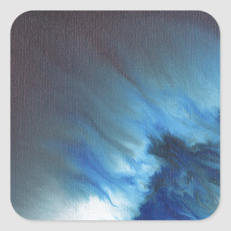 Faerie's Night Flight Abstract Square Sticker