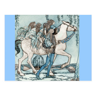 Faeries on Horseback Postcard