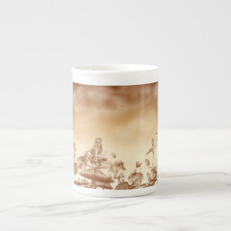 Faeries On Mushrooms Bone China Mug
