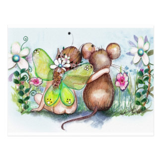 Faery and Mouse Postcard