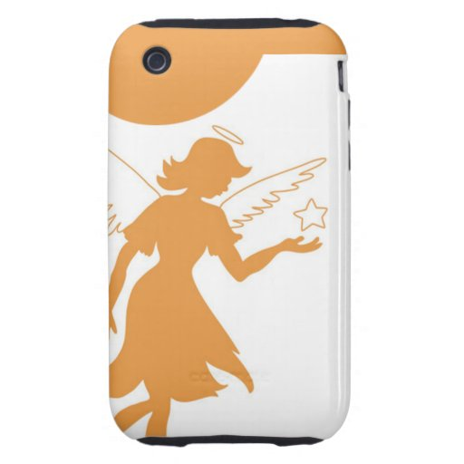 Faery Angel Holding Star Tough iPhone 3 Cases