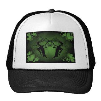Faery Hearts Green Trucker Hats