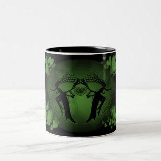 Faery Hearts Green Two-Tone Mug