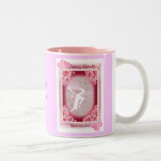 Faery Hearts Pink Two-Tone Coffee Mug