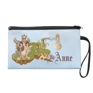 Faery Land Friends Pixel Art Wristlet Purse