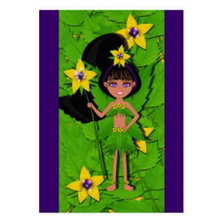 Faery named Violet Gift Tags Profile Card Business Card Template