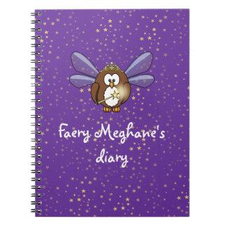 faery owl note book
