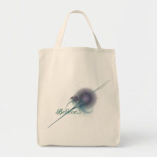 Faery Wand Abstract Art Grocery Tote Bag
