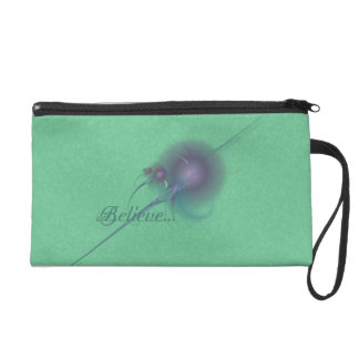Faery Wand Abstract Art Wristlet Clutch