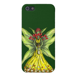 Faery with Flower Bouquet iPhone 5/5S Cases