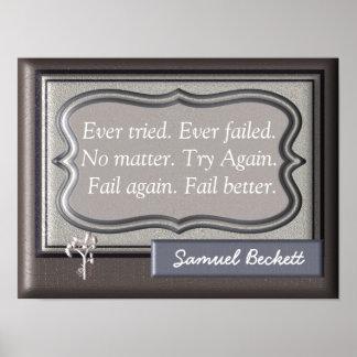 Fail Better - Samuel Beckett Quote - Art Print