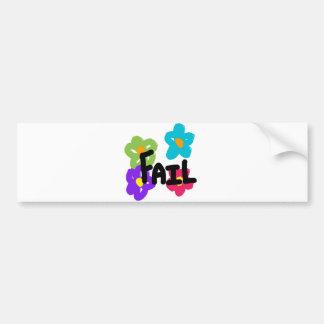 Fail Bumper Sticker - Flower