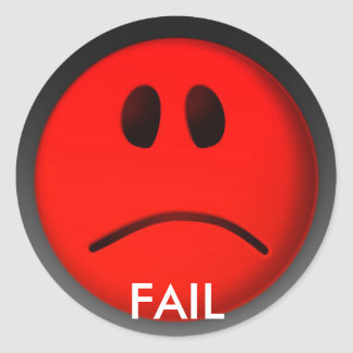 FAIL CLASSIC ROUND STICKER