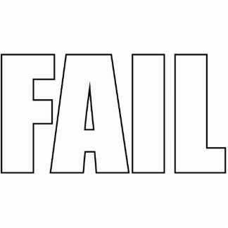 FAIL Desktop Stand Standing Photo Sculpture