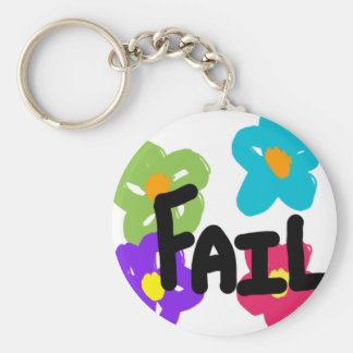 Fail Flower Key Chain